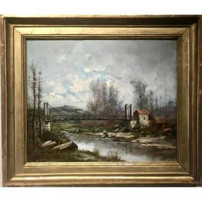 MORANCE - Le pont sur l'Azergues - 1894 - Jean BAIN (1860-1908)
