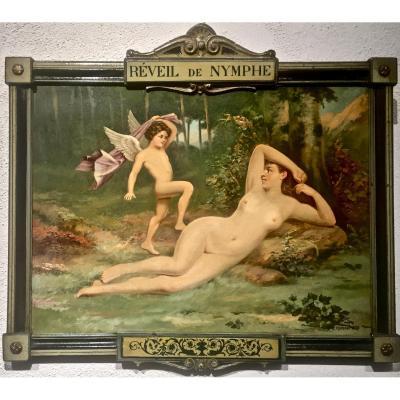 REVEIL de NYMPHE - Julien Léon HAMEAU (XIX/XXème)