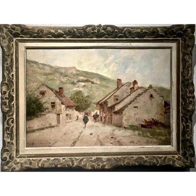 Village des  Alpes de Haute Provence - Charles MONTLEVAULT (1835-1897)