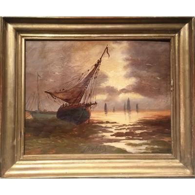 Il repartira, demain, à marée haute ... J. CHATELIN (XIXème)