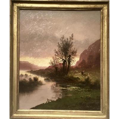 Emile GODCHAUX (1860-1933) - CREPUSCULE