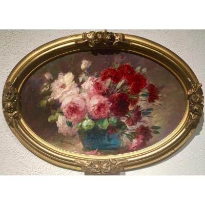 Nicolas SICARD (1840-1920)- FLEURS en paire