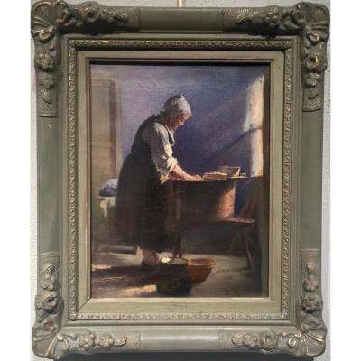 Henri PINTA (1856-1944) - LA BLANCHISSEUSE