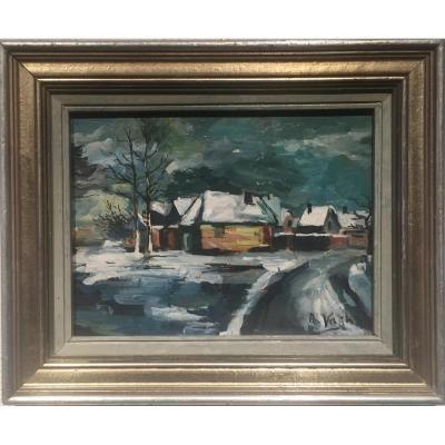 Albert VAGH (1931-1983) - Village du MONT VENTOUX