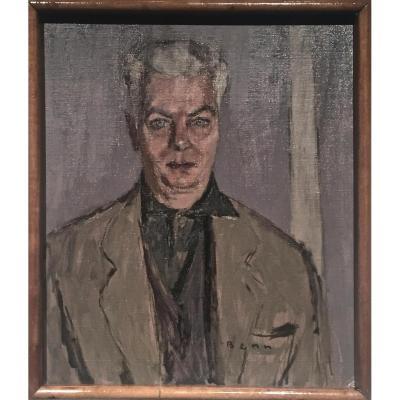 BENN (1905-1989)- ECOLE DE PARIS - Autoportrait 1967
