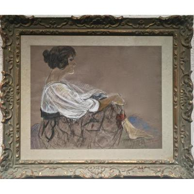 Roland OUDOT (1877-1981) - FEMME ASSISE