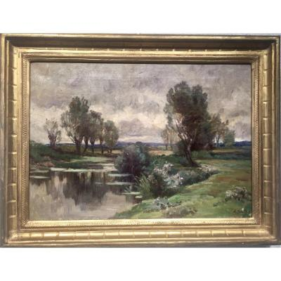 Amable BOULLIER (1867-1940) - Etang des Dombes