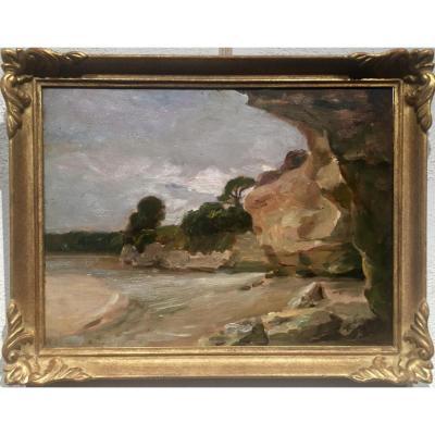 Les MARTIGUES (petite plage) - Georges AUFRAY (1864-1941)