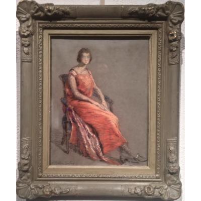 La FEMME en ROSE - Suzanne AUFRAY-GENESTOUX (XIX-XXème)