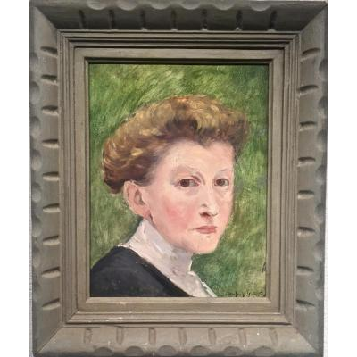 VISAGE - Suzanne AUFRAY - GENESTOUX ( XIX-XXème)