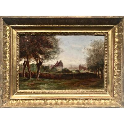 ESPLANADE - Louis BONNETON (1851-1933) - Daté 1899