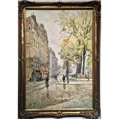 QUAI CONTI - PARIS 1900 - René LEVERD (1872-1938)