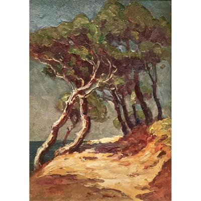 CALANQUES des ANTHENORS 1936 - Henri FONTAINE (1887-1956)
