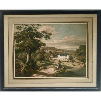 Château de GRANDCHAMP - Maximilien MERIGOT (1822-1884)