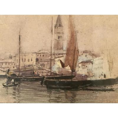 Venice - Middle XIX - Unsigned Watercolor