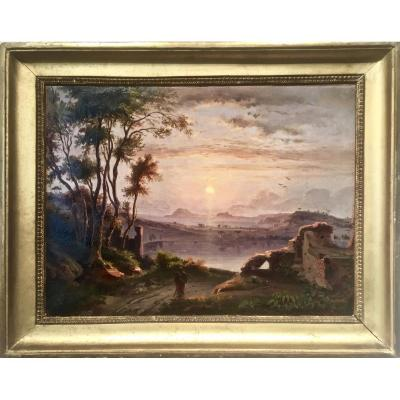 The Bay Of Naples - Monogrammed Cj 1843