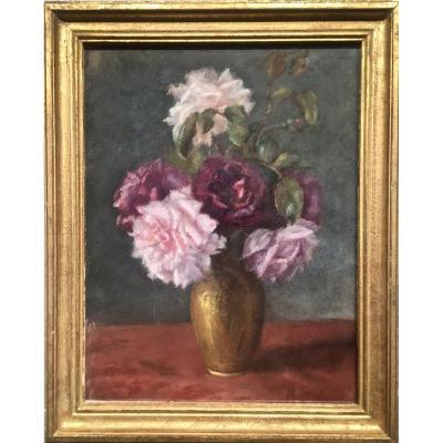 Michel DUBOST (1879-1952) - BOUQUET de ROSES