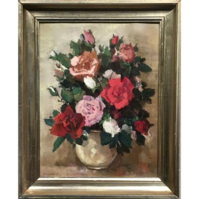 Yves ROUVRE (1910-1996) - ROSES