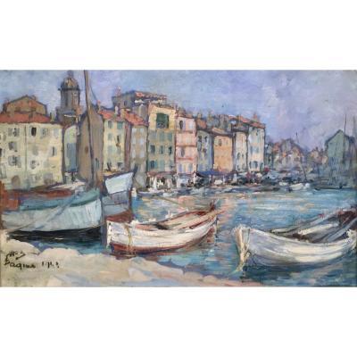 Saint Tropez 1948 - Georg Wolf (1882-1962)