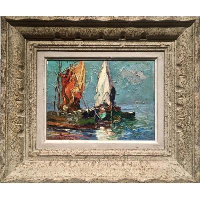 Louis Bissinger (1899-1978) - Fishing Boats