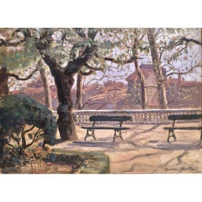 JARDIN à CASTRES - Madeleine PLANTEY (1890-1985)