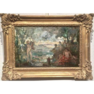 Triptyque Pochades Impressionists Nineteenth - Not Signed