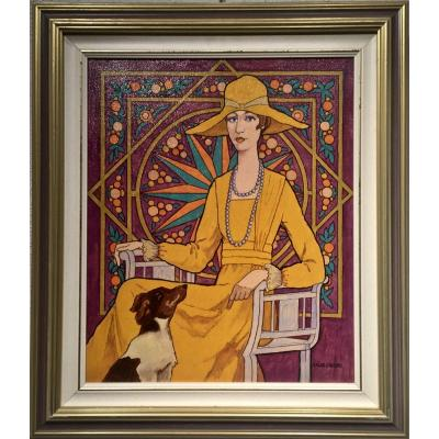 The Woman In Yellow - Angel Arias-crespo (1924-2017)