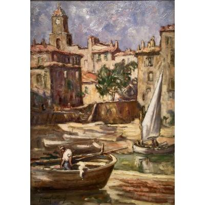 St TROPEZ 1950 - Jean Baptiste GALLAND (1880-1958)