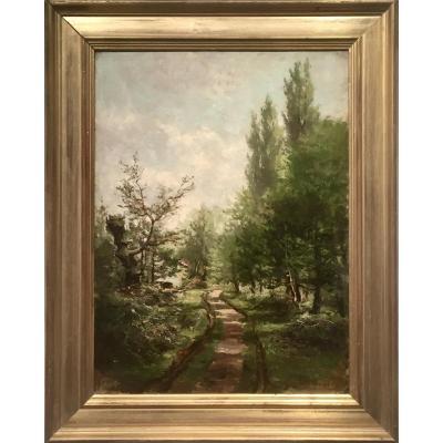 Armand Auguste BALOUZET (1858-1905) -   L'OREE DU BOIS