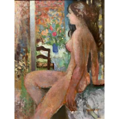 Jacques Petit (born In 1925) - Nu Before The Window