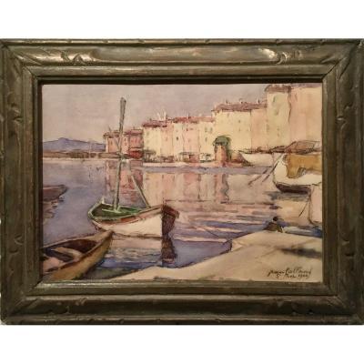 St TROPEZ Années 40  - Jean Baptiste GALLAND (1880-1958)
