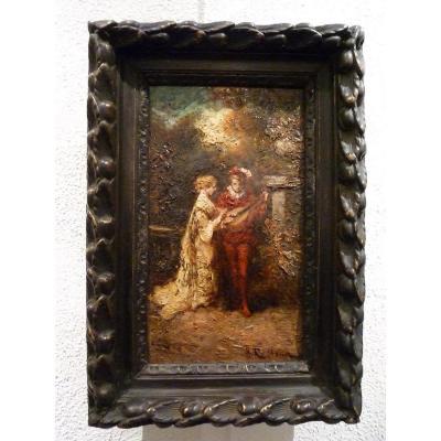 Troubadour et Belle Dame d'Henri Paul Rolland