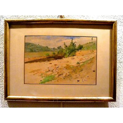 Une lône du Rhône près de Lyon de Raymond Cox