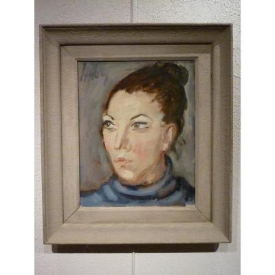 Portrait Of A Woman By Paul Hubay