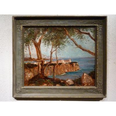 """MONACO """" le Rocher """" 1929 par JEAN ANTOINE MARCEL GOBIN"""