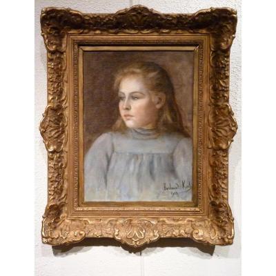 Elisabeth BARBAUD-KOCH (1863-1928) - PORTRAIT de jeune fille