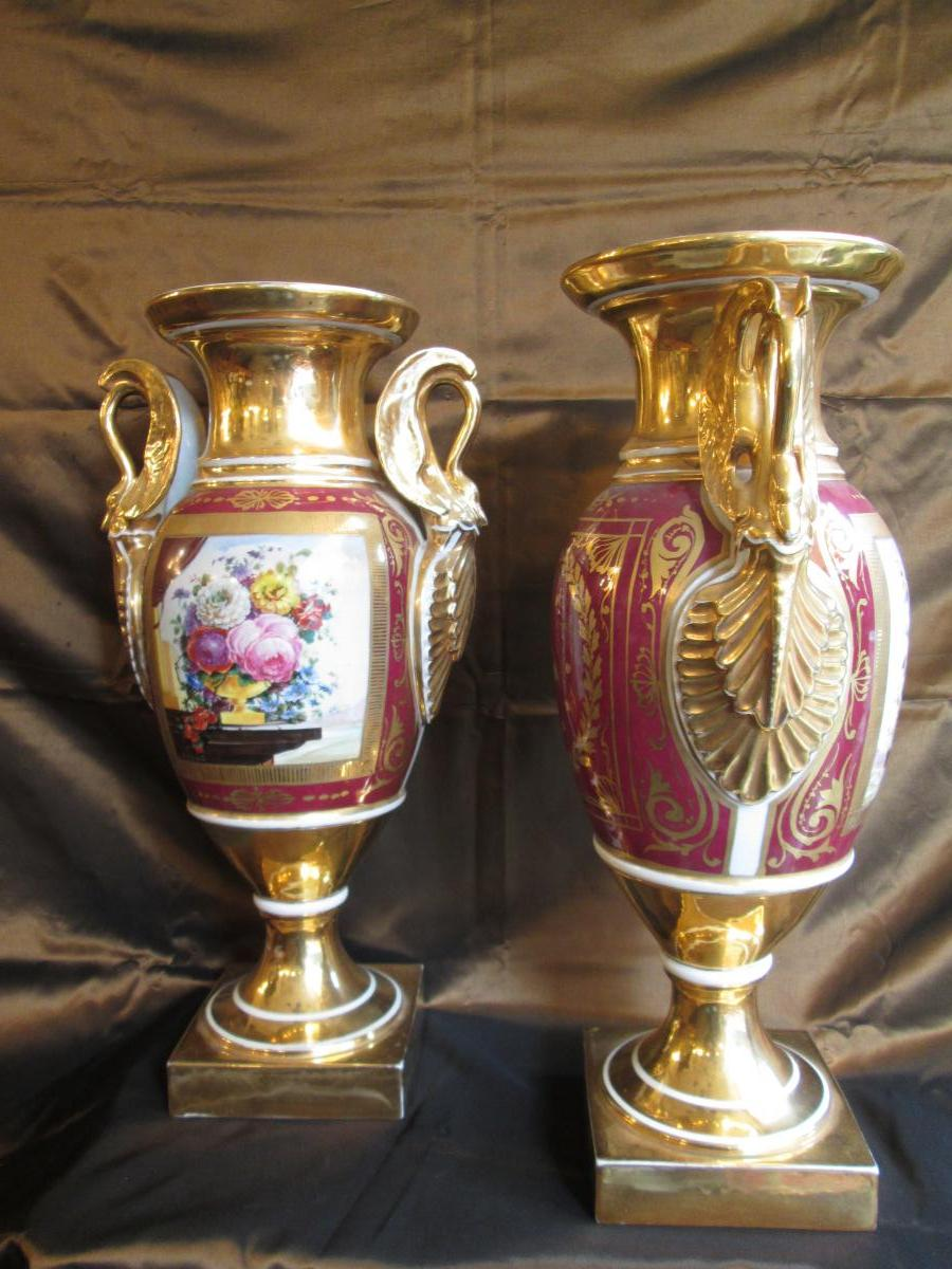 Pair Of Restoration Vases