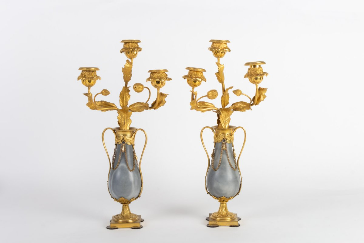 Pair Of Lxvi Candelabra