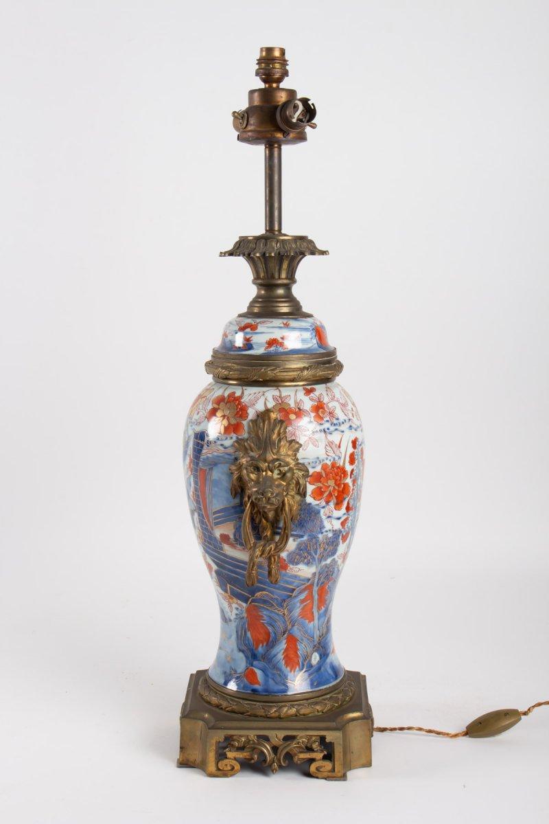 Lampe porcelaine  Imari  XIX