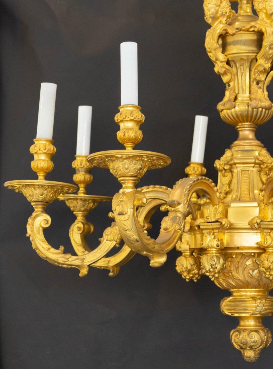 Regency Style Bronze Mazarin Chandelier