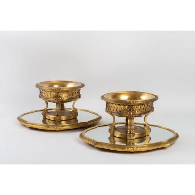 Pair Of Table And Bronze Surtouts