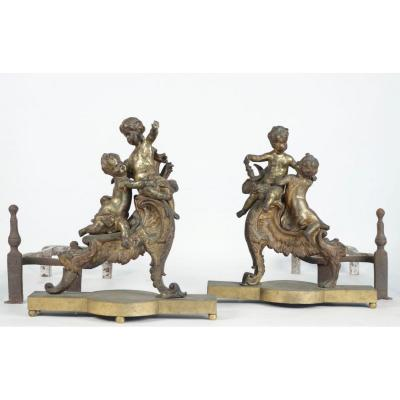 Pair Of Andirons End XVIII