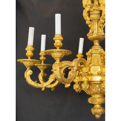 Lustre Mazarin en bronze de style Régence