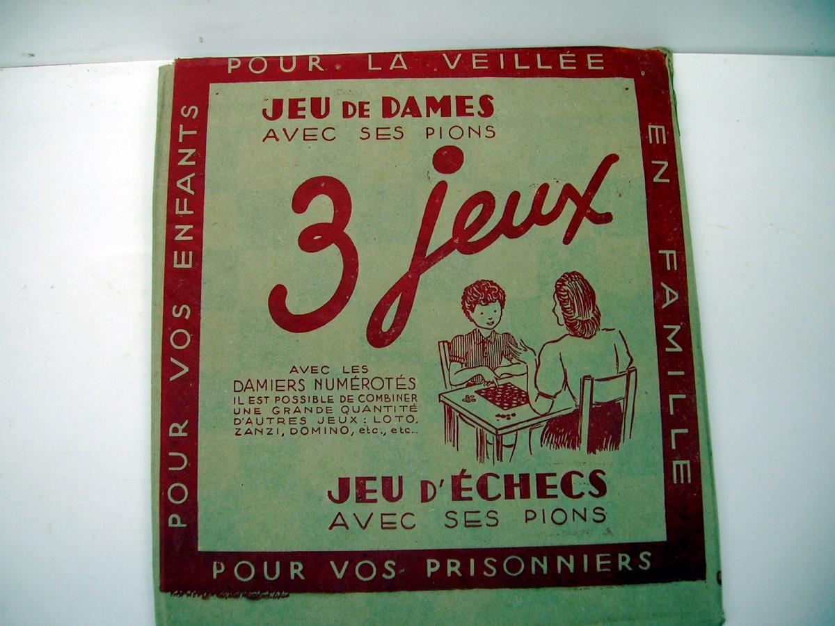 Jeu de Dames,Echecs en carton 39/45