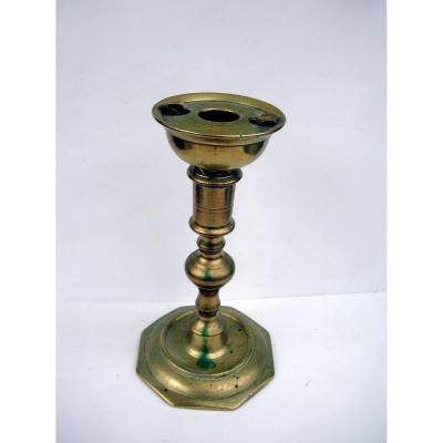 Ancient Candlestick With Oil Lamp
