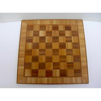 Chessboard In Straw Marquetry