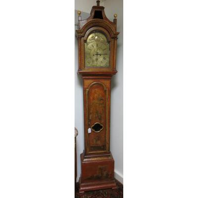 Longcase Clock En Laque De Chine