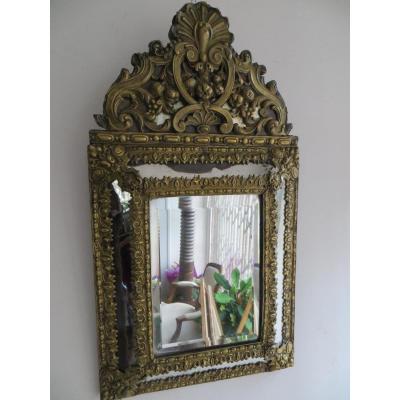Miroir En Laiton Repoussé