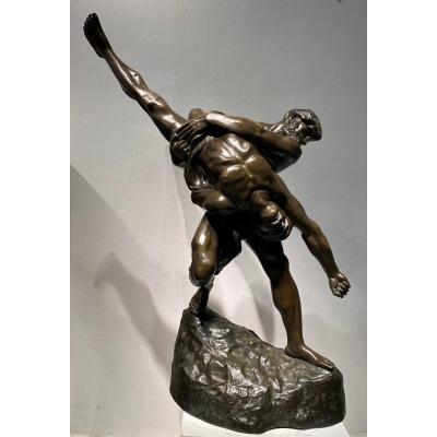 Large Bronze XIX, Jef Lambeaux (1852-1908), The Wrestlers