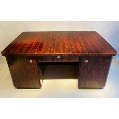 Macassar Ebony Art Deco Desk